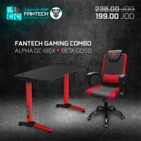 Fantech Saver Combo Gaming Chair GC-185x + Gaming GD512 Desk