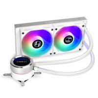 LIAN LI GALAHAD 240mm ARGB CPU Liquid Cooler - White Edition-1