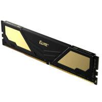 TEAMGROUP Elite Plus Single 8GB 2666MHz CL19 DDR4 Desktop Memory - Black & Gold
